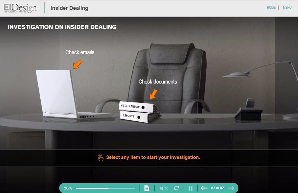 Compliance Course Senario - Insider Dealing