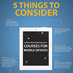 5 Things To Consider When Developing Courses For your Mobile Device