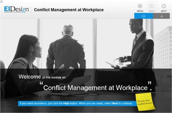 EI Design Conflict Management at Workplace