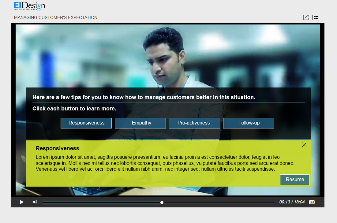 EI Design Microlearning Interactive Video Sample3