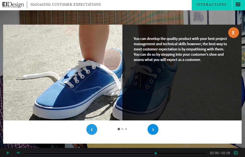 EI Design Interactive video Carousel