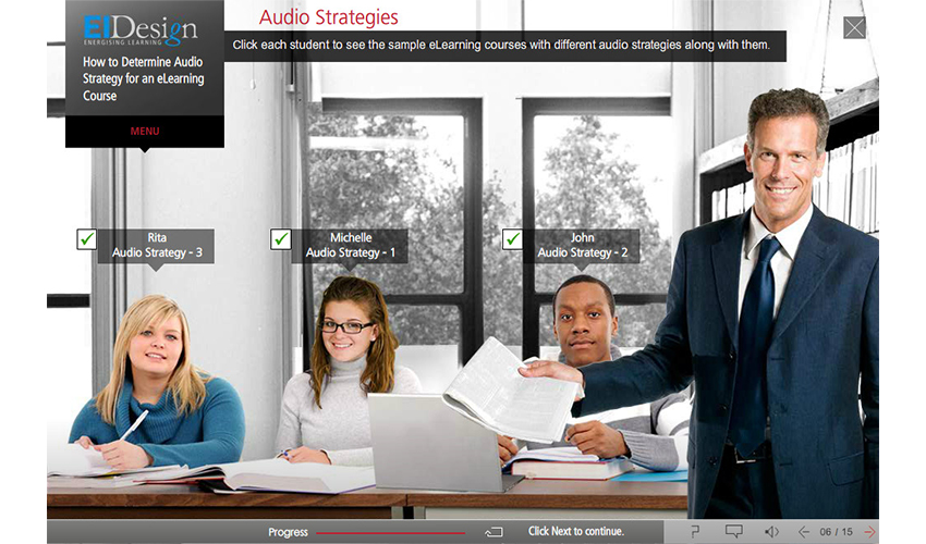Auto Strategy for an eLearning Course
