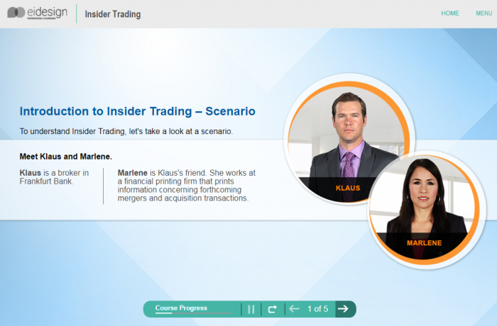 Online Compliance Training - Insider Trading Level 1 - 1