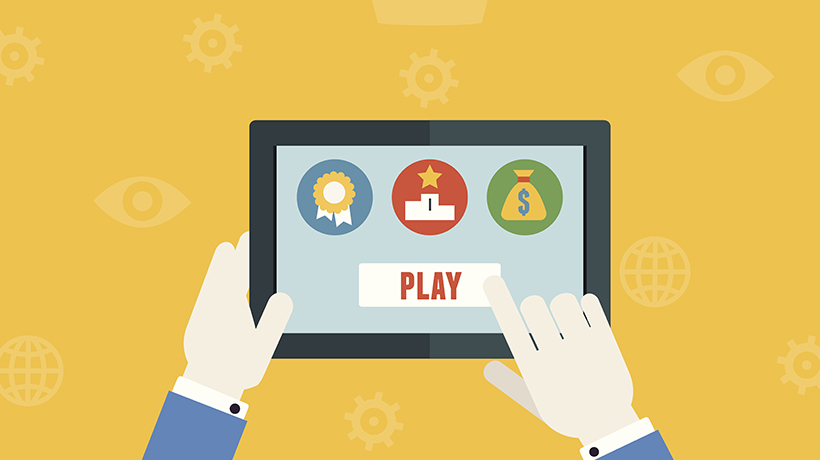 Infographic on Gamification in eLearning 6 Examples