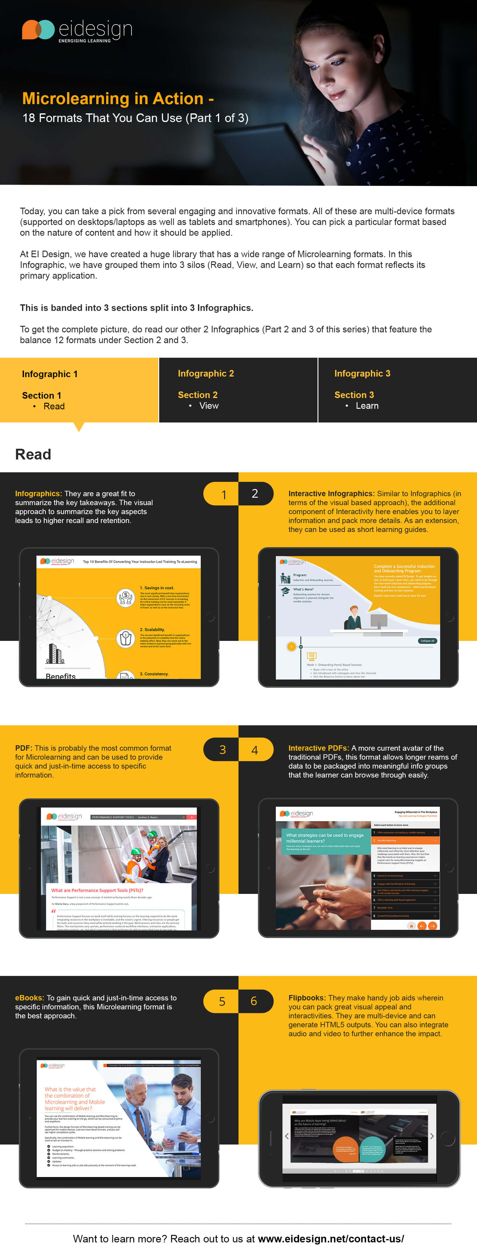 Infographic: 18 Microlearning Formats
