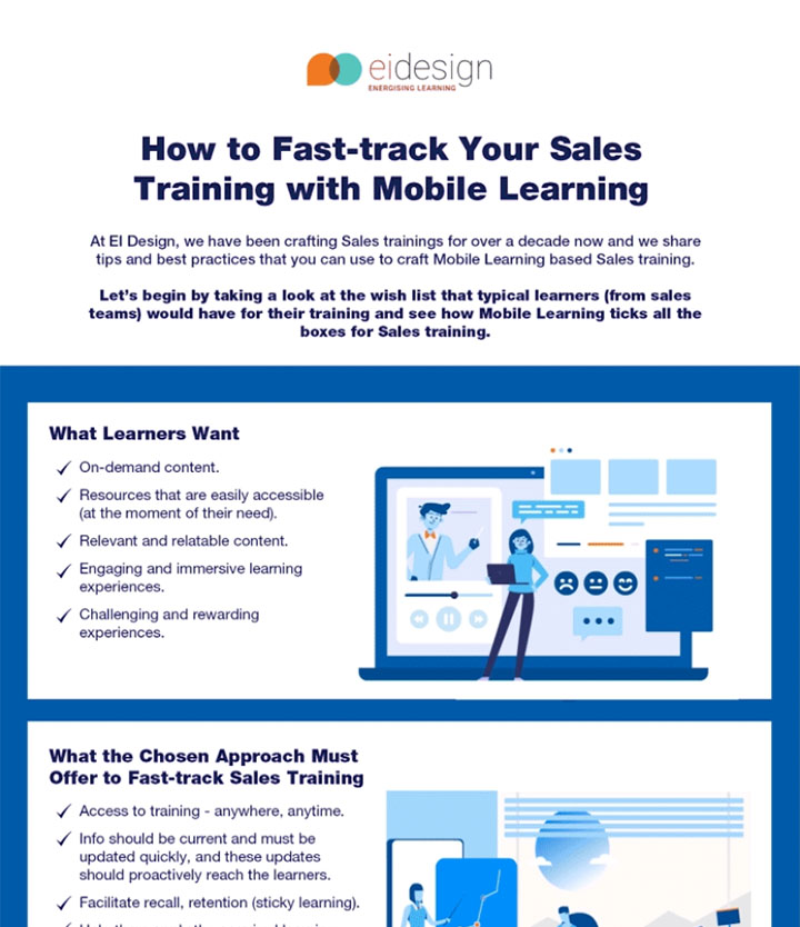 Sales training with Mobile Learning