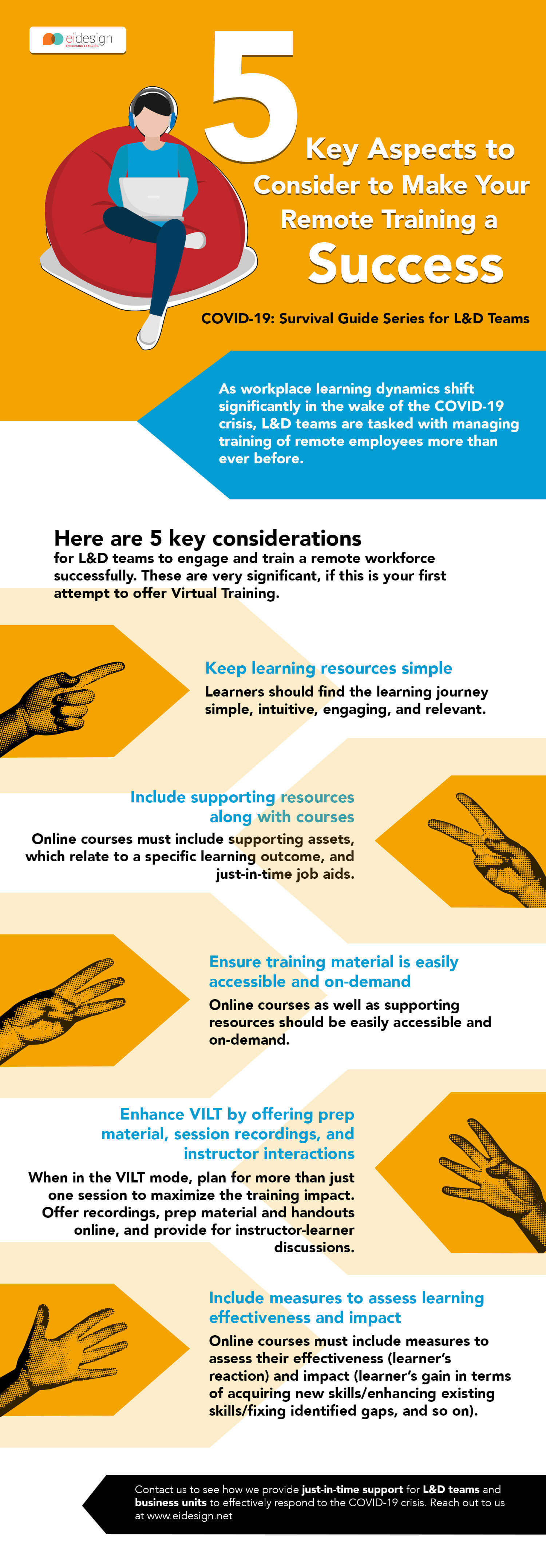 Infographic: 5 Key Aspects to Consider to Make Your Remote Training a Success
