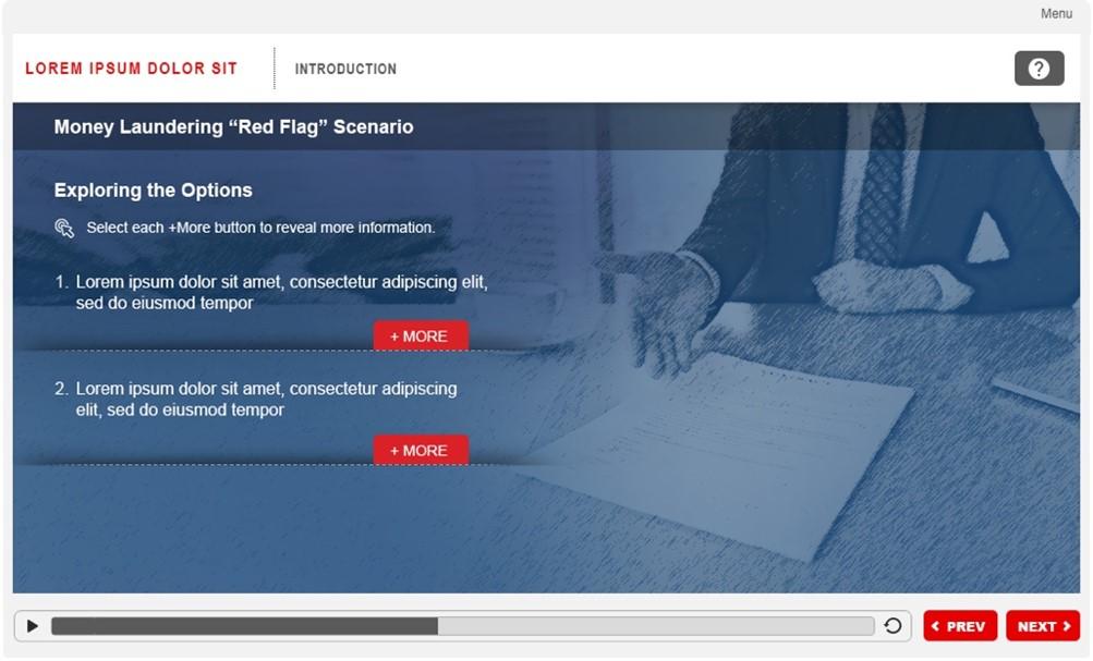 Scenario Based Training for Compliance Training 5