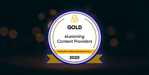 Gold in the list of Top eLearning Content Development Companies for 2020